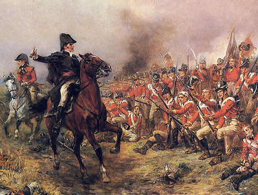 R. A. Hillingford, Il duca di Wellington a Waterloo