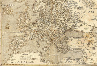 Map of Europe, drawing of c. 1570.